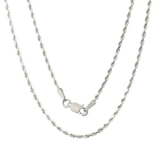 Women's Sterling Silver Rope Chain Necklace 18 inch 13 grams