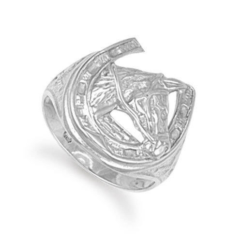 Men's solid Sterling Silver Horse Shoe Ring