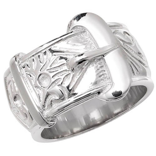 Men's heavy Sterling Silver Buckle Ring 22 grams