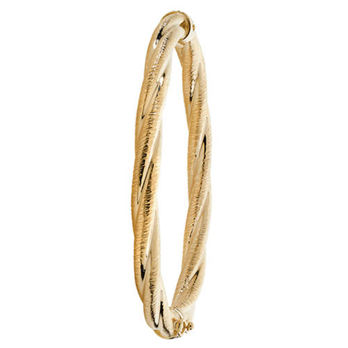 Women's 9ct Yellow Gold textured hinged Bangle 8 grams
