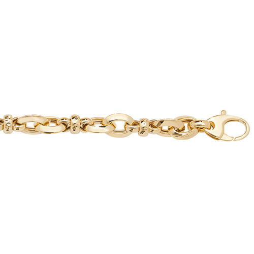 Women's solid 9ct Yellow Gold fancy twist Bracelet 7.5 inch