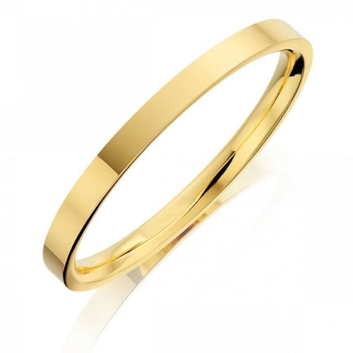 Solid 9ct Yellow Gold 4mm flat shape Bangle 10 grams