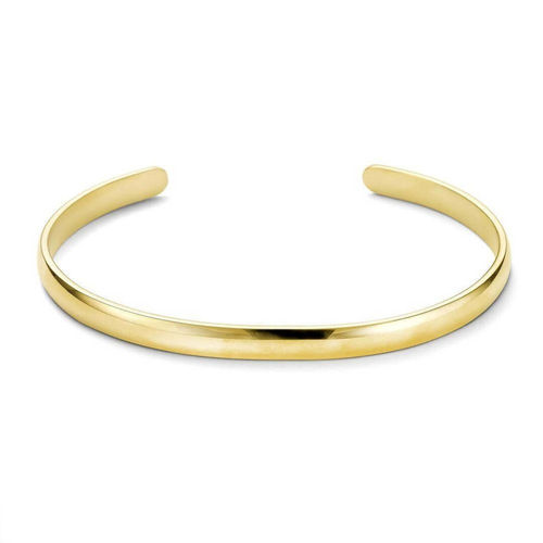Solid 9ct Yellow Gold 6mm open D shape Bangle 13 grams