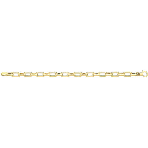 Women's 9ct yellow Gold Hollow Bracelet 7 1/2 inch 6 grams