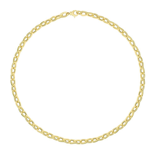9ct Yellow Gold fancy Necklace 18 inch 10 grams