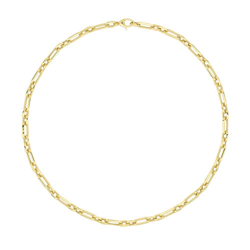 9ct Yellow Gold fancy Necklace 18 inch 9 grams