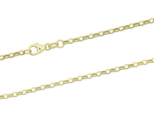 18 inch 9ct Yellow Gold Belcher Chain Necklace 4 grams