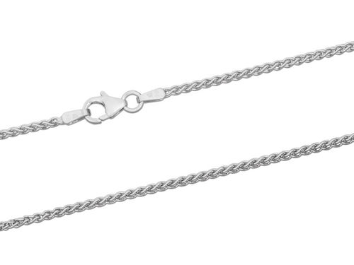 18ct White Gold Spiga Chain Necklace 20 inch 6 grams