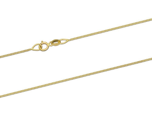 18ct Yellow Gold Curb Chain Necklace 18 inch