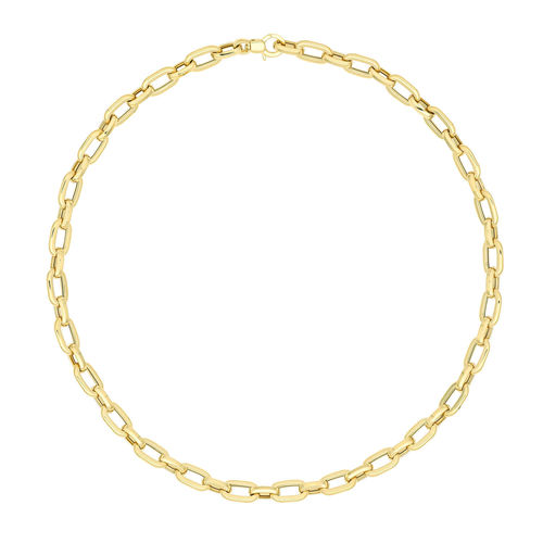9ct Yellow Gold fancy Necklet 18 inch 12 grams