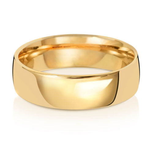 Men's 18ct Yellow Gold 7mm Court shape Wedding Ring 8 grams